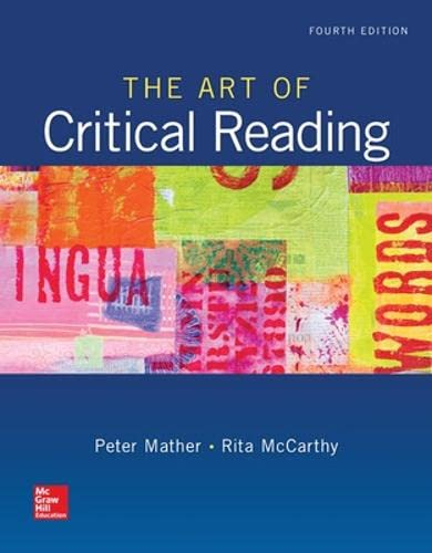 9780073513591: The Art of Critical Reading (Developmental English)