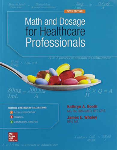 9780073513805: MATH AND DOSAGE CALCULATIONS FOR HEALTHCARE PROFESSIONALS