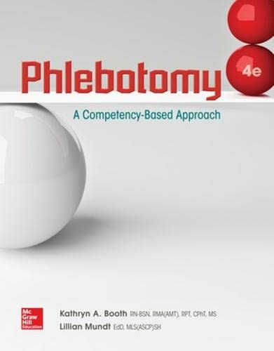 9780073513843: Phlebotomy: A Competency Based Approach
