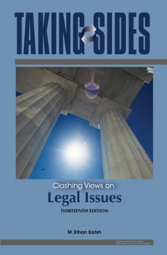 9780073515090: Taking Sides: Clashing Views on Legal Issues
