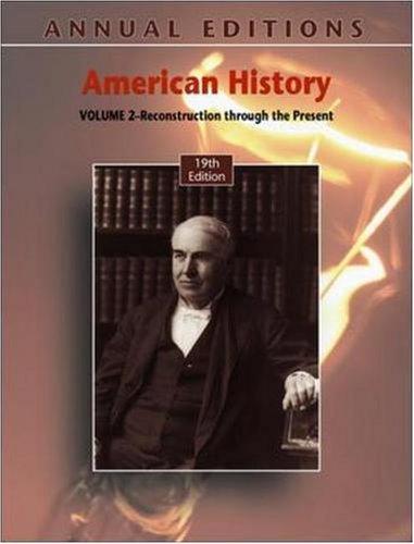 9780073516011: Annual Editions: American History, Volume 2, 19/e