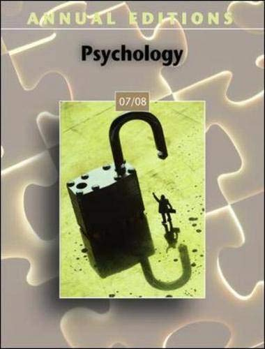 9780073516295: Annual Editions: Psychology 07/08