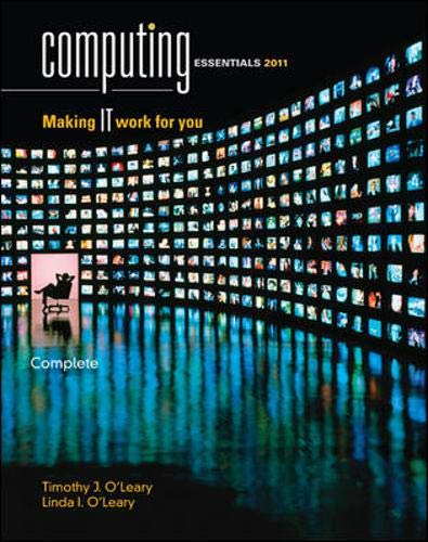 9780073516783: Computing Essentials 2011, Complete Edition (O'Leary)