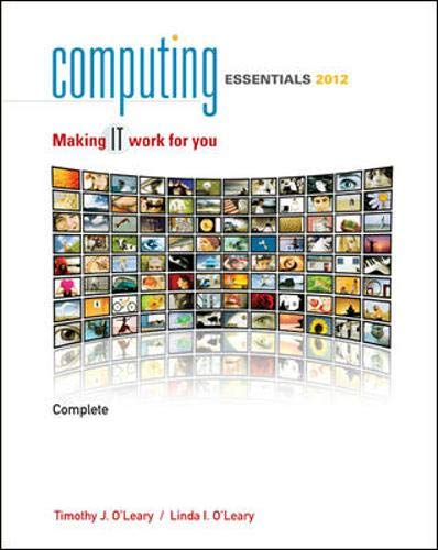 9780073516806: Computing Essentials 2012 Complete Edition (The O'Leary Series)