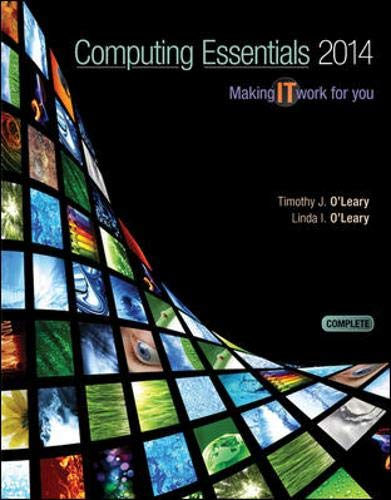 9780073516868: Computing Essentials 2014 Complete Edition