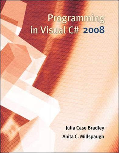 9780073517216: Programming in Visual C# 2008