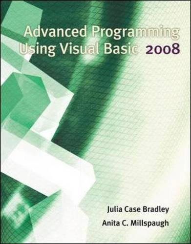 9780073517223: Advanced Programming Using Visual Basic 2008