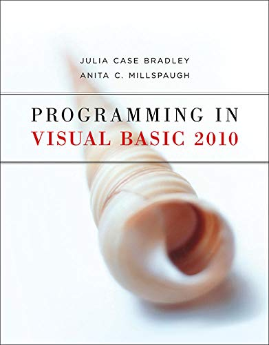 9780073517254: Programming in Visual Basic 2010