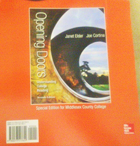 9780073517629: Opening Doors Understanding College Reading