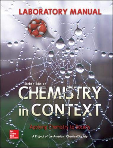 9780073518121: Laboratory Manual Chemistry in Context