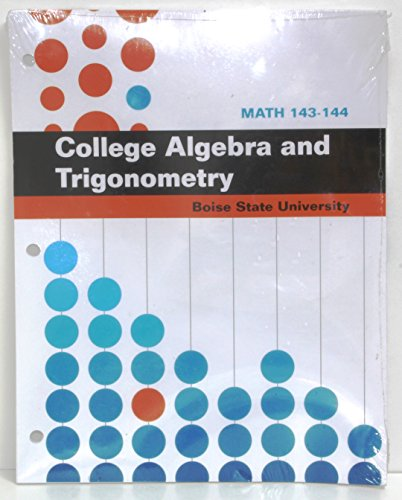 9780073519128: College Algebra and Trigonometry Math 143 144 Boise State University Student Workbook With Aleks For Math Online Access Code