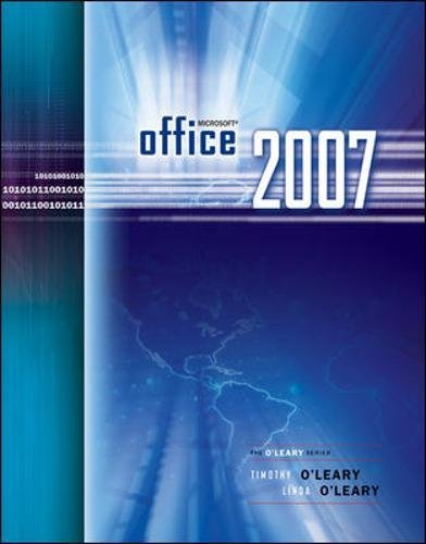 9780073519166: Microsoft Office 2007 (The O'Leary)