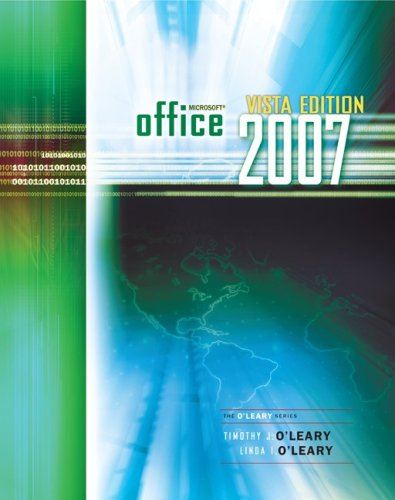 9780073519272: Office 2007 Windows Vista version (The O'Leary Sereis)