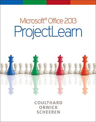 9780073519401: Microsoft Office 2013: ProjectLearn