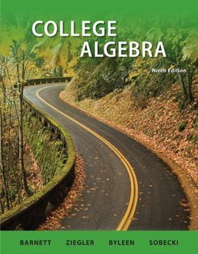 College Algebra: U