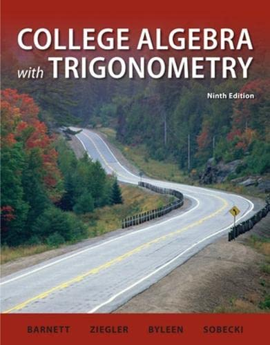 9780073519500: College Algebra with Trigonometry