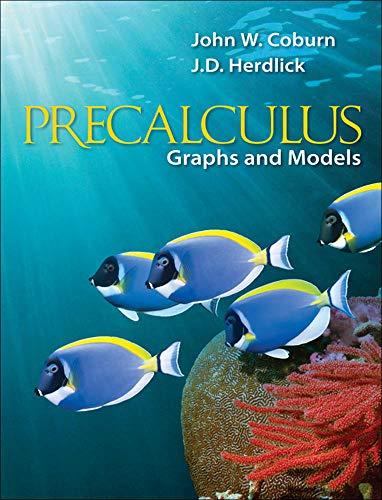 9780073519531: Precalculus: Graphs & Models