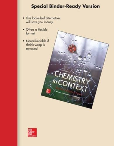 9780073520674: Loose Leaf Version for Chemistry in Context