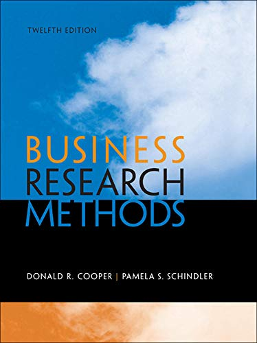 9780073521503: Business Research Methods, 12th Edition