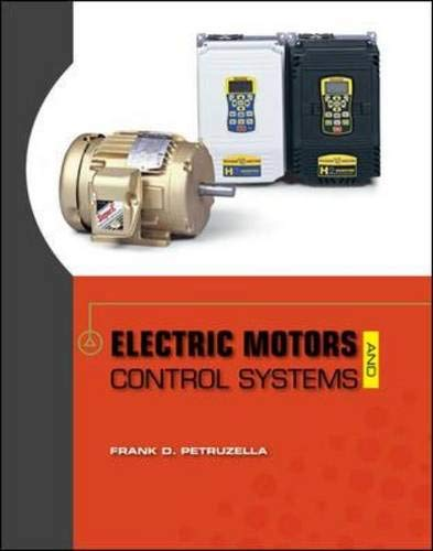 9780073521824 Electric Motors And Control Systems By Frank Petruzella Abebooks