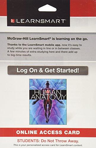 9780073521862: LearnSmart Standalone Access Card for Saladin Human Anatomy 4e