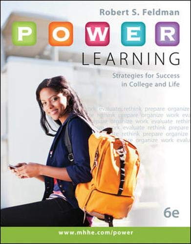 9780073522463: P.O.W.E.R. Learning: Strategies for Success in College and Life