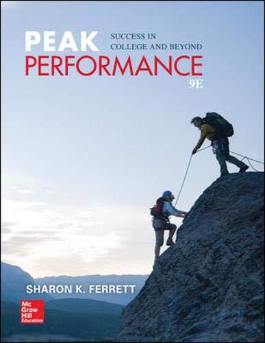 Peak Performance: Success in College and Beyond: Ferrett, Sharon