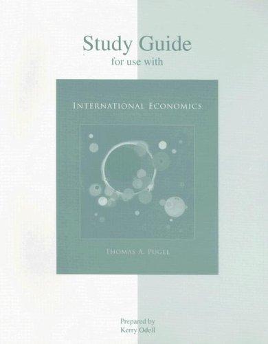 9780073523033: Study Guide to accompany International Economics