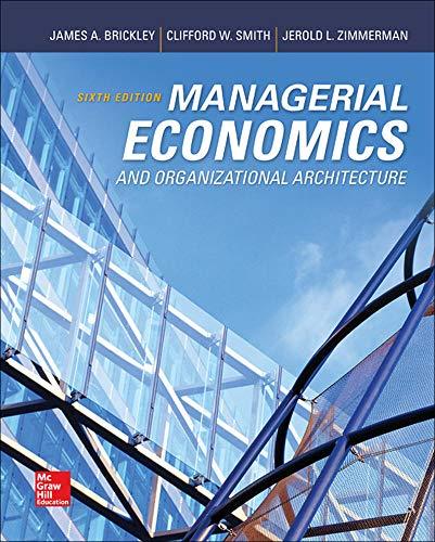 9780073523149: Managerial Economics & Organizational Architecture, 6th Edition (Irwin Economics)