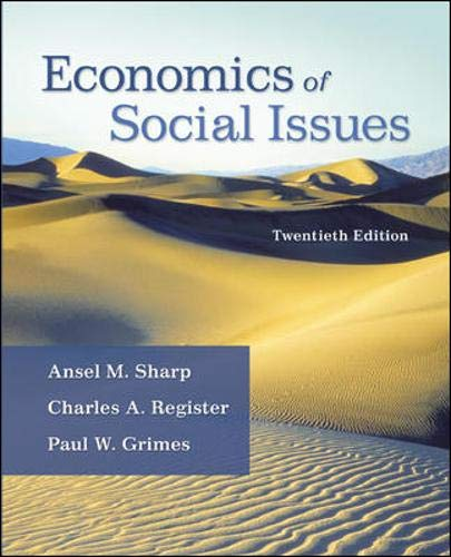 Economics of Social Issues (The Mcgraw-hill Economics: Sharp, Ansel; Register,