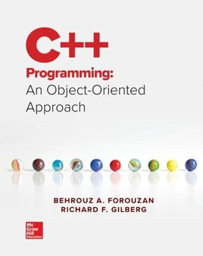 9780073523385: C++ Programming: An Object-Oriented Approach
