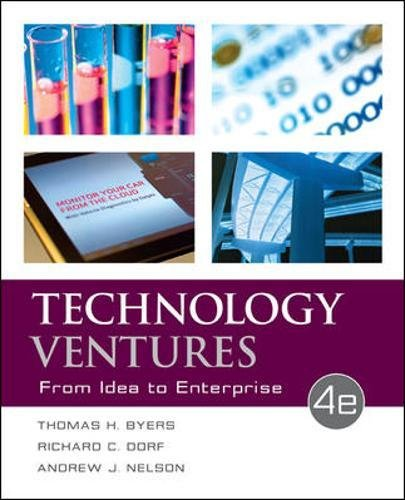 9780073523422: Technology Ventures: From Idea to Enterprise (Irwin Industrial Engineering)