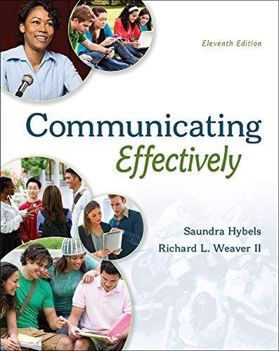 9780073523873: COMMUNICATING EFFECTIVELY