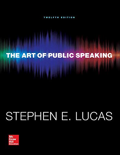9780073523910: The Art of Public Speaking (Communication) Standalone Book