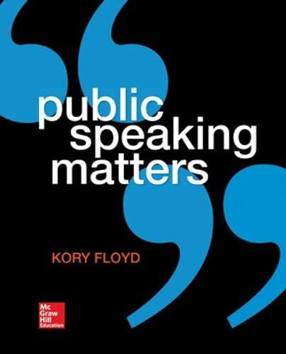 Public Speaking Matters: Dr Kory Floyd
