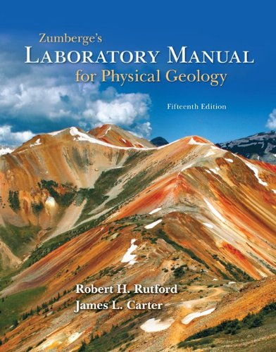 9780073524153: Zumberge's Laboratory Manual for Physical Geology