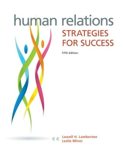 9780073524689: Human Relations: Strategies for Success