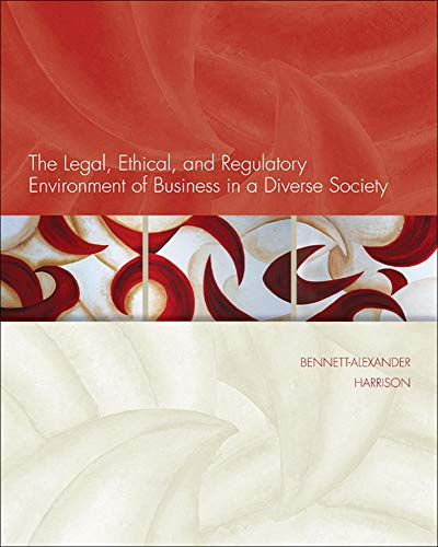 9780073524924: The Legal, Ethical, and Regulatory Environment of Business in a Diverse Society