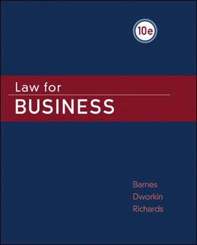 9780073524931: Law for Business
