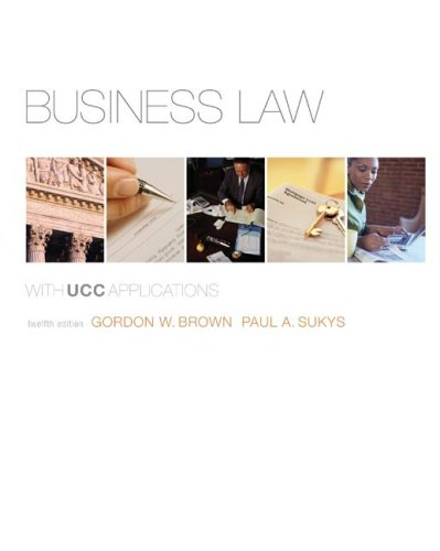 9780073524948: Business Law with UCC Applications Student Edition