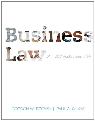 9780073524955: Business Law with UCC Applications Student Edition