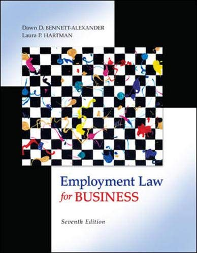 9780073524962: Employment Law for Business