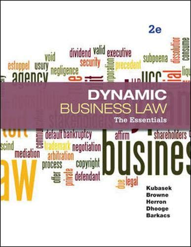 9780073524979: Dynamic Business Law: The Essentials