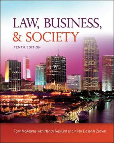 9780073525006: Law, Business and Society