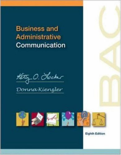 9780073525037: Business and Administrative Communication
