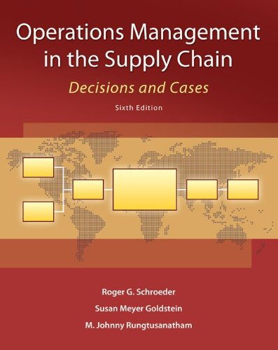 9780073525242: Operations Management in the Supply Chain: Decisions and Cases (Mcgraw-Hill/Irwin Series in Operations and Decision Sciences)
