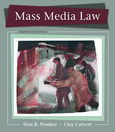 9780073526188: Mass Media Law