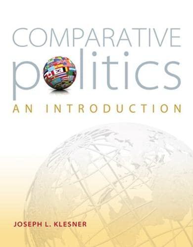 Comparative Politics An Introduction: Klesner, Joseph L.