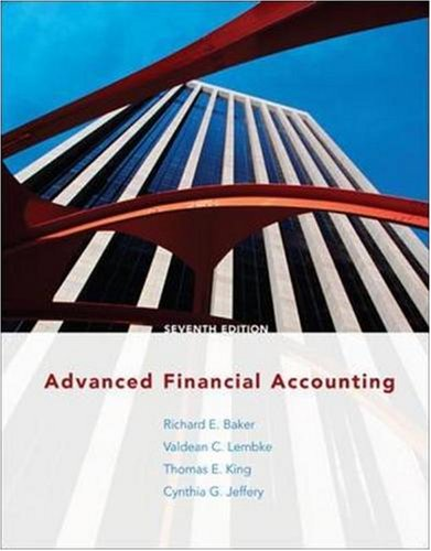 9780073526744: Advanced Financial Accounting