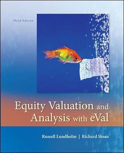 9780073526898: Equity Valuation and Analysis w/eVal (Irwin Accounting)